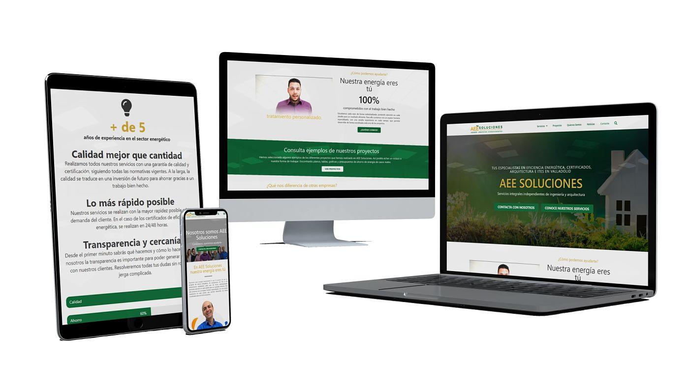 proyecto web de aee soluciones elaborado por interacciona comunicacion