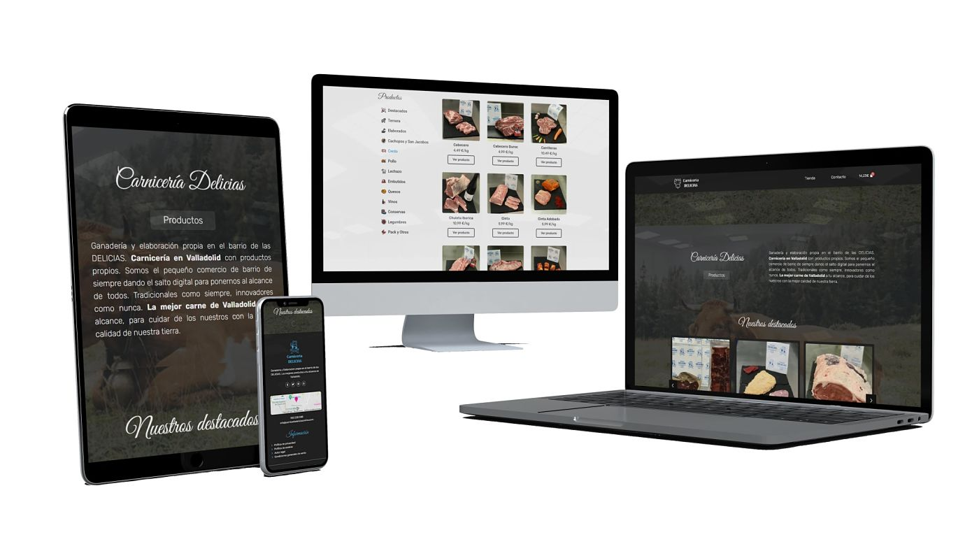 diseño web de carniceria delicias elaborado por interacciona comunicacion