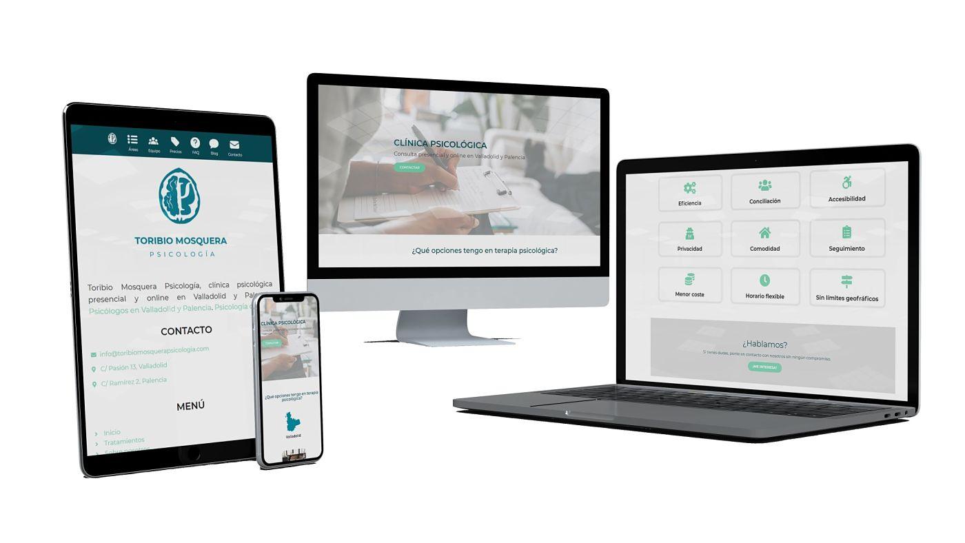 proyecto web de clinica psicologica ruben mosquera diseñado por interacciona comunicacion